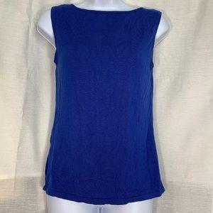 Tops - Blue Knit Tank Top